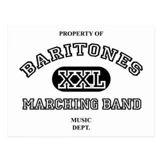 Property of Baritones Postcard