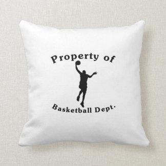 Property Of Basketball Dept Throw Pillows