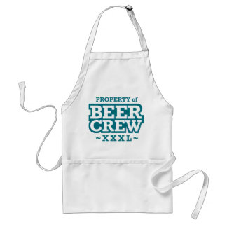 Property of Beer Crew - Blue Adult Apron