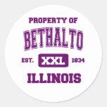 Property of Bethalto Classic Round Sticker