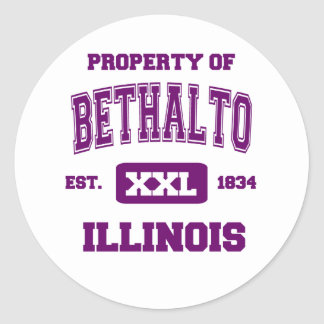 Property of Bethalto Classic Round Sticker