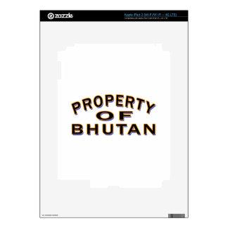 Property Of Bhutan iPad 3 Decal