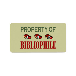 Property of Bibliophile Bookplate Reading Gift
