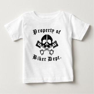 Property Of Biker Dept Gear Skull T Shirts