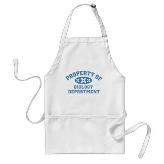 Property Of Biology Department Adult Apron