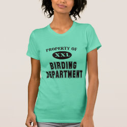 Women's American Apparel Fine Jersey Short Sleeve T-Shirt with Property of Birding Dept design