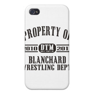 Property Of Blanchard Wrestling iPhone 4 Cover