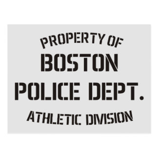 Property Of Boston Police Dept Postcard