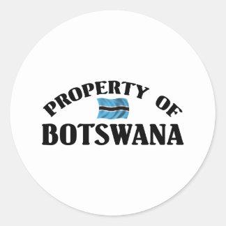 Property Of Botswana Round Sticker