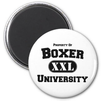 Property of Boxer University 2 Inch Round Magnet