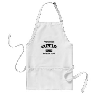 Property of Brazilian Jiu Jitsu Atheltic Departmen Adult Apron