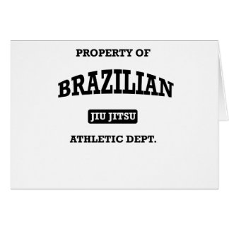 Property of Brazilian Jiu Jitsu Atheltic Departmen Card