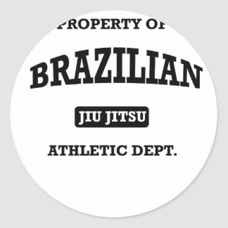 Property of Brazilian Jiu Jitsu Atheltic Departmen Classic Round Sticker
