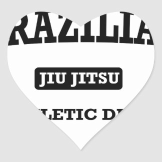 Property of Brazilian Jiu Jitsu Atheltic Departmen Heart Sticker