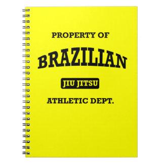 Property of Brazilian Jiu Jitsu Atheltic Departmen Note Book