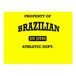 Property of Brazilian Jiu Jitsu Atheltic Departmen Postcard