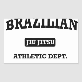 Property of Brazilian Jiu Jitsu Atheltic Departmen Rectangular Sticker