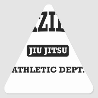 Property of Brazilian Jiu Jitsu Atheltic Departmen Triangle Sticker