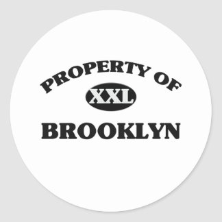 Property of BROOKLYN Classic Round Sticker