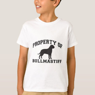 """Property of """"Bullmastiff"""" with silhouette graphic T-Shirt"""