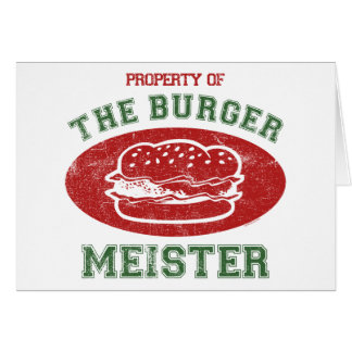 Property of Burger Meister Card