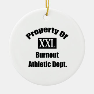 Property Of Burnouts By Gear4gearheads Double-Sided Ceramic Round Christmas Ornament