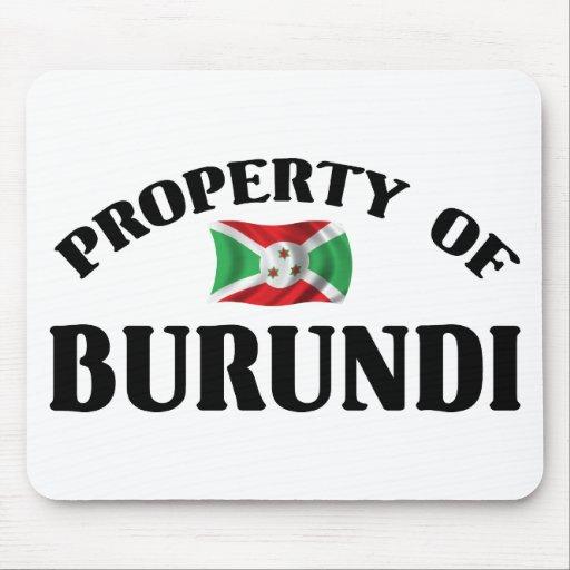 Property Of Burundi Mouse Pad