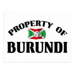 Property Of Burundi Post Cards