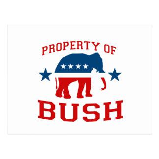 PROPERTY OF BUSH POSTCARD