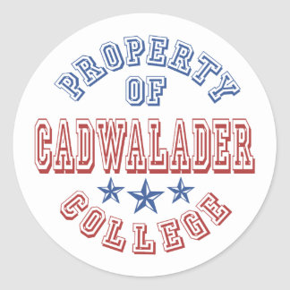 Property Of Cadwalader College Stickers