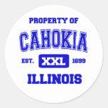 Property of Cahokia Round Sticker