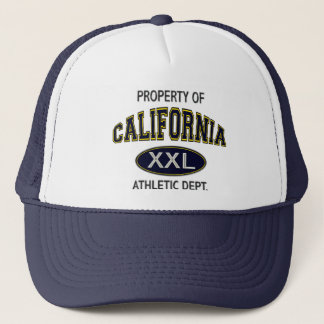 PROPERTY OF_CALIFORNIA ATHLETIC DEPT. TRUCKER HAT