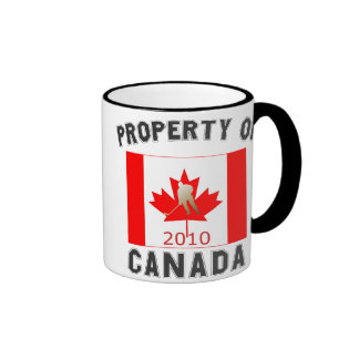 Property of Canada: Canada Hockey Flag Gold 2010 Mugs