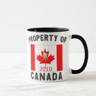 Property of Canada Hockey Flag 2010 Souvenir Mug