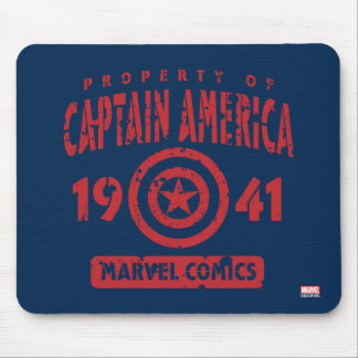 Property Of Captain America Mouse Pad