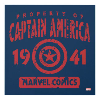 Property Of Captain America Panel Wall Art