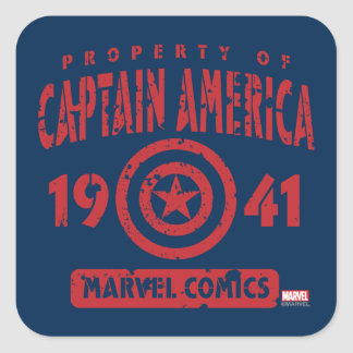 Property Of Captain America Square Sticker