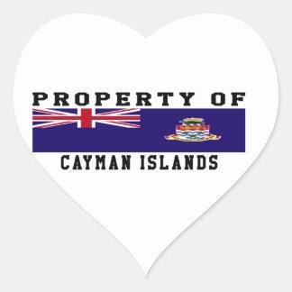 Property Of Cayman Islands Heart Sticker