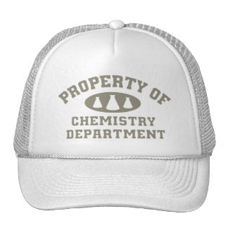Property Of Chemistry Department Trucker Hat
