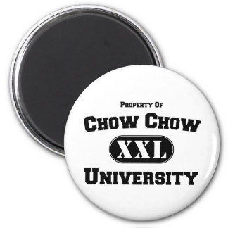 Property of Chow Chow University 2 Inch Round Magnet