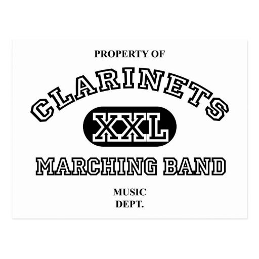 Property of Clarinets Postcard