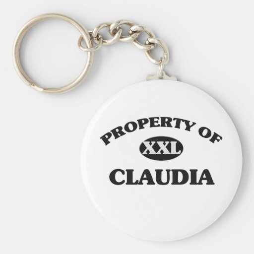 Property of CLAUDIA Basic Round Button Keychain