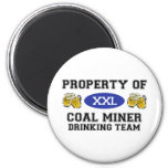 Property of Coal Miner Drinking Team Refrigerator Magnets