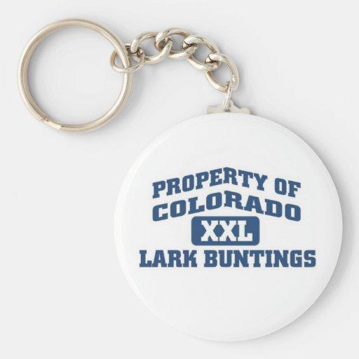 Property of Colorado XXL Lark Buntings Keychains