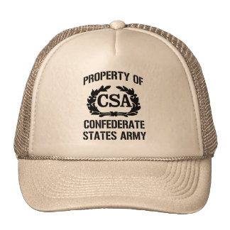 Property of confederate states army trucker hat