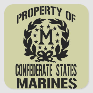 Property Of Confederate States Marine Sticker