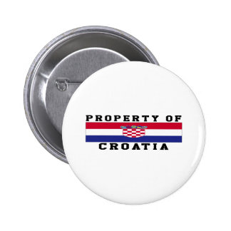 Property Of Croatia Buttons