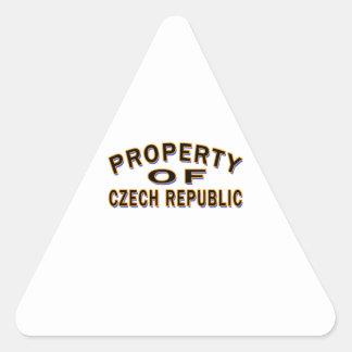 Property Of Czech Republic Triangle Sticker