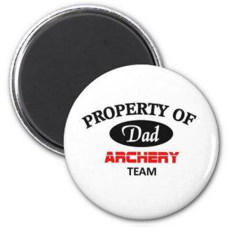 Property of dad archery team refrigerator magnet