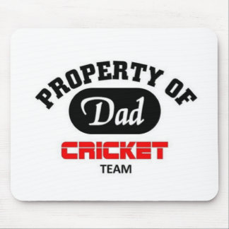 Property of Dad Cricket Team Mouse Pad